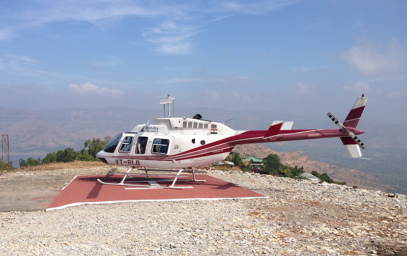 Helipad at Ravine Hotel