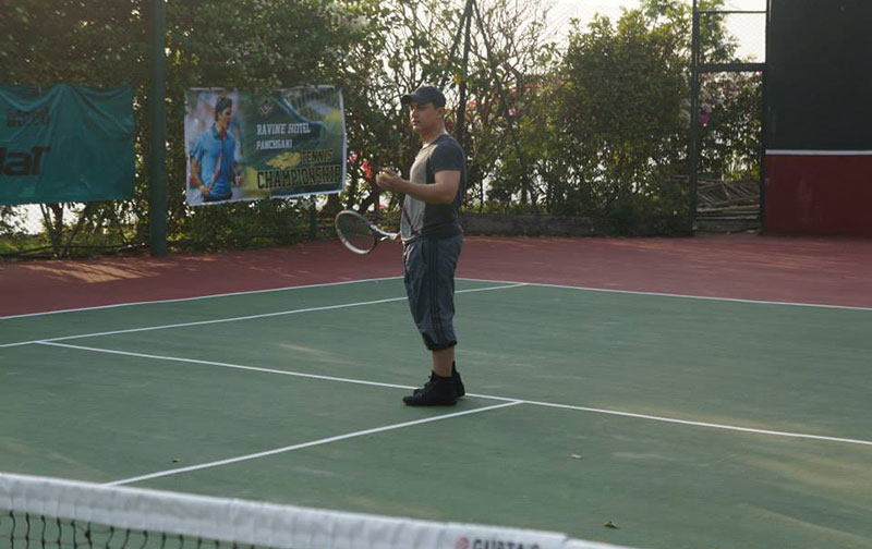 Aamir Khan at Ravine Hotels Tennis Court