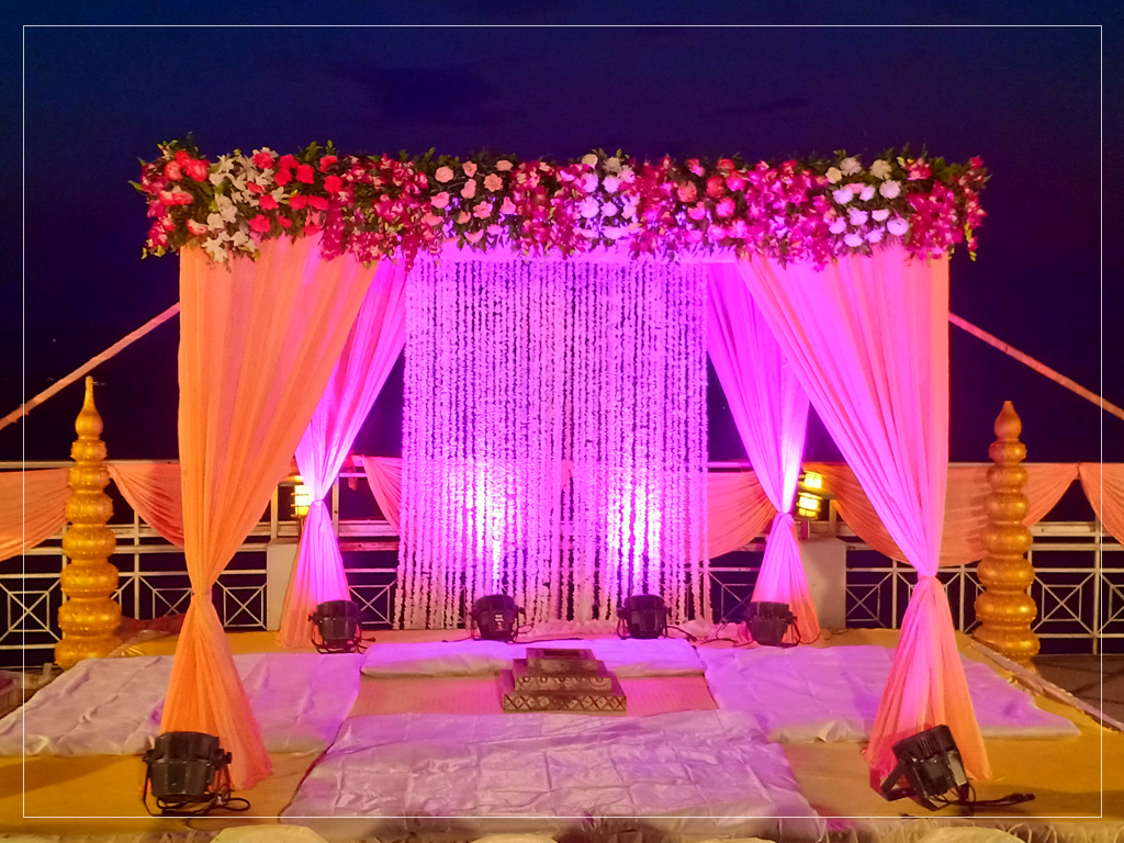 Mandap Decor for Phera function on upper deck