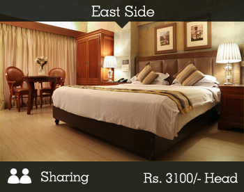 East Side Room - 2 Person Sharing -- Per Person Rs. 3100/-