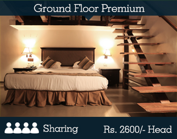 Ground Floor Premium Room - 2 Person Sharing -- Per Person Rs. 2600/-