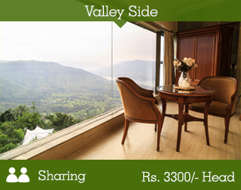 Valley Side Room - 2 Person Sharing -- Per Person Rs. 3300/-