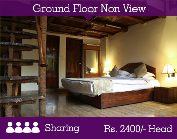 Ground Floor Non-View Room - 2 Person Sharing -- Per Person Rs. 2050/-